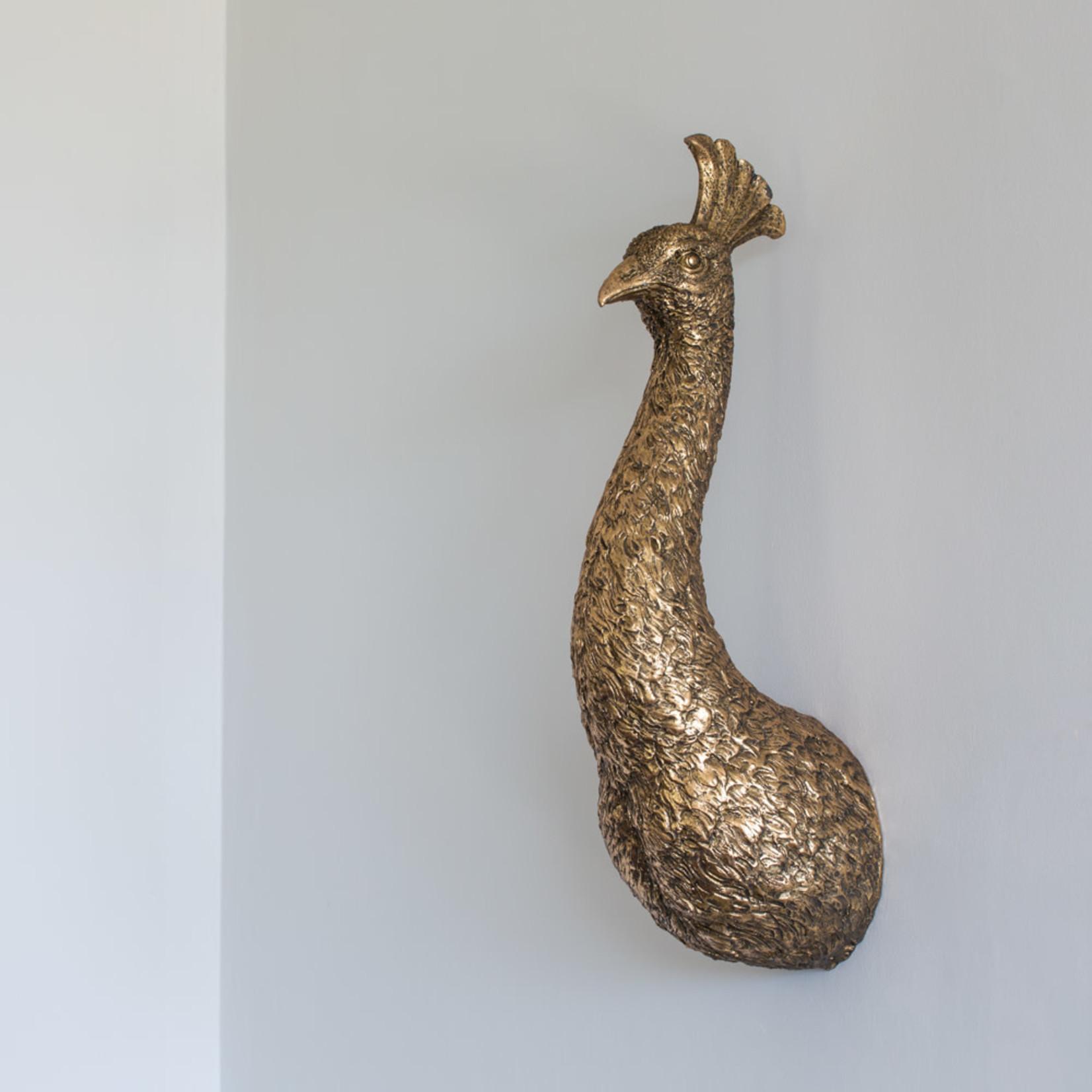 Grand Interiors Golden Peacock Head