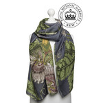 ONE HUNDRED STARS Scarf Kew Passion Flower Grey