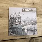 Homebird Cards HAPPY NEW HOME Alex Anderson Scarborough Grand Castle Illustration Square Card