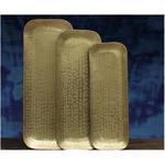 Nkuku Kadova Brass Tray - Antique Brass - SMALL 1 X 39.5 X 14CM