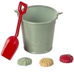 Maileg PRE ORDER Maileg Beach set - shovel, bucket & shells - Estimated Arrival mid/end June