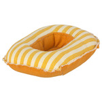 Maileg PRE ORDER Maileg Rubber boat, Small mouse - Yellow stripe - Estimated Arrival mid/end June