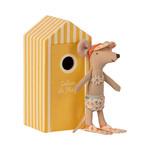 Maileg PRE ORDER Maileg Beach mice, Big sister in Cabin de Plage - Estimated mid/end June