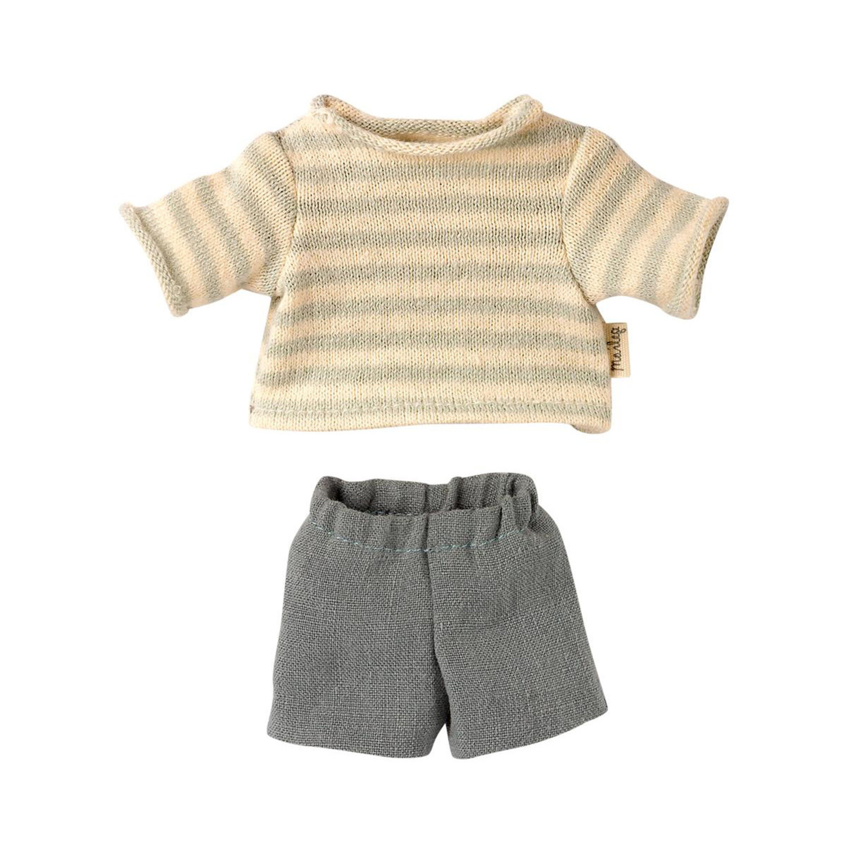 Maileg Maileg Jumper Blouse and shorts for Teddy Junior