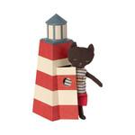 Maileg .Maileg Sauveteur, Lifeguard Tower with cat