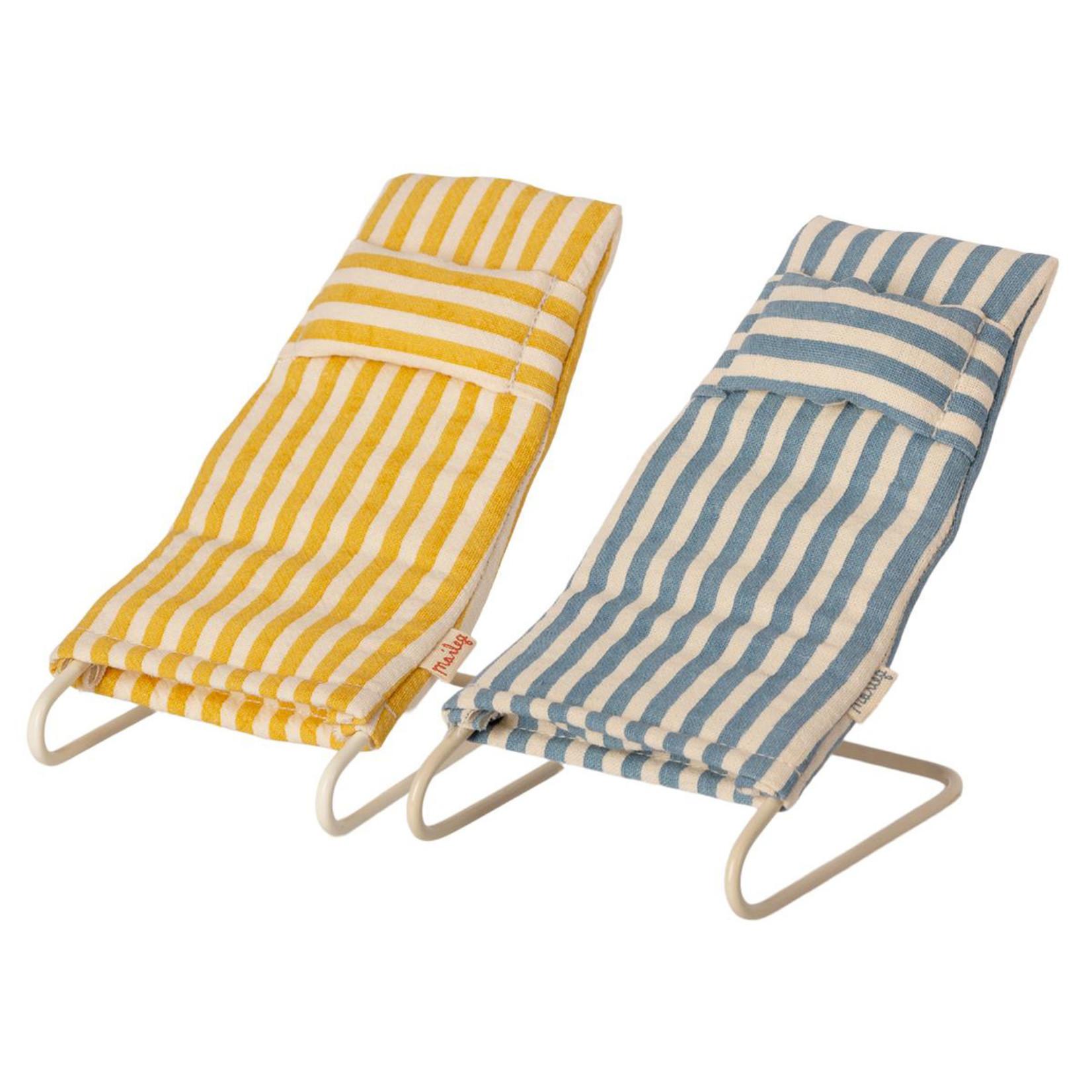 Maileg Maileg Beach chair set, Mouse