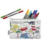 Eat Sleep Doodle Working wheels pencilcase