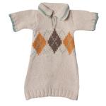 Maileg Maileg Clothes - Maxi Sweater Jumper Brown Yellow
