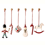 Maileg Maileg Metal Christmas decoration Ornaments In Box, 6 Ass. - Classic