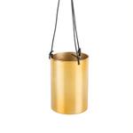 RJB Stone Tall Brass Hanging Planter - gold plant pot