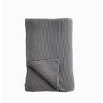 Nkuku Moss Stitch Cotton Throw (charcoal) Grey