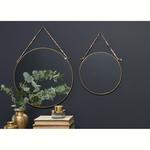 Nkuku Kiko Round Mirror - Antique Brass - Small 0.5 X 26.5cm (dia)