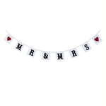 RJB Stone Mr and mrs Red Hearts Square Bunting