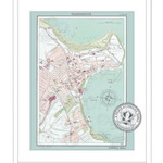 Homebird Pictures A3 Scarborough Map Framed Locally £35 Or unframed in a Postal Tube £25