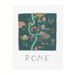 Rifle Rifle Rome Map Print (16x20)