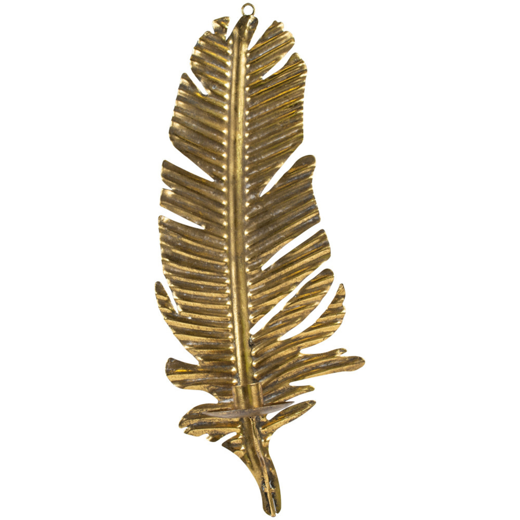 Grand Interiors Golden Feather Wall Sconce
