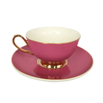BoDuck Tea Cup and Saucer in PRETTY PINK