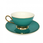 BoDuck Tea Cup and Saucer in TEAL