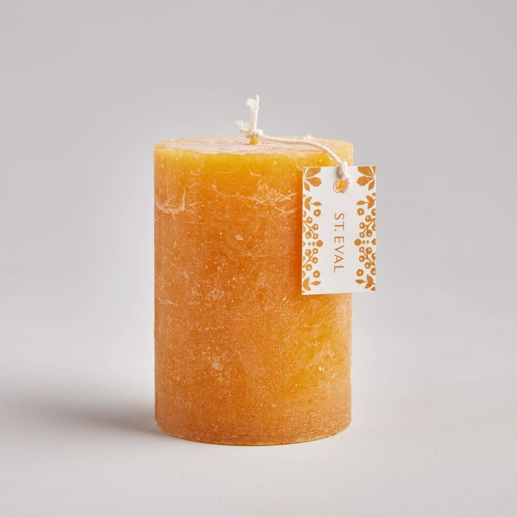"""St. Eval Amber, Folk 3""""x4"""" Scented Pillar Candle"""