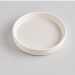 St. Eval St Eval White Candle Plate Small