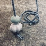 Double Ceramic Duckegg Braided Light Pull Cord
