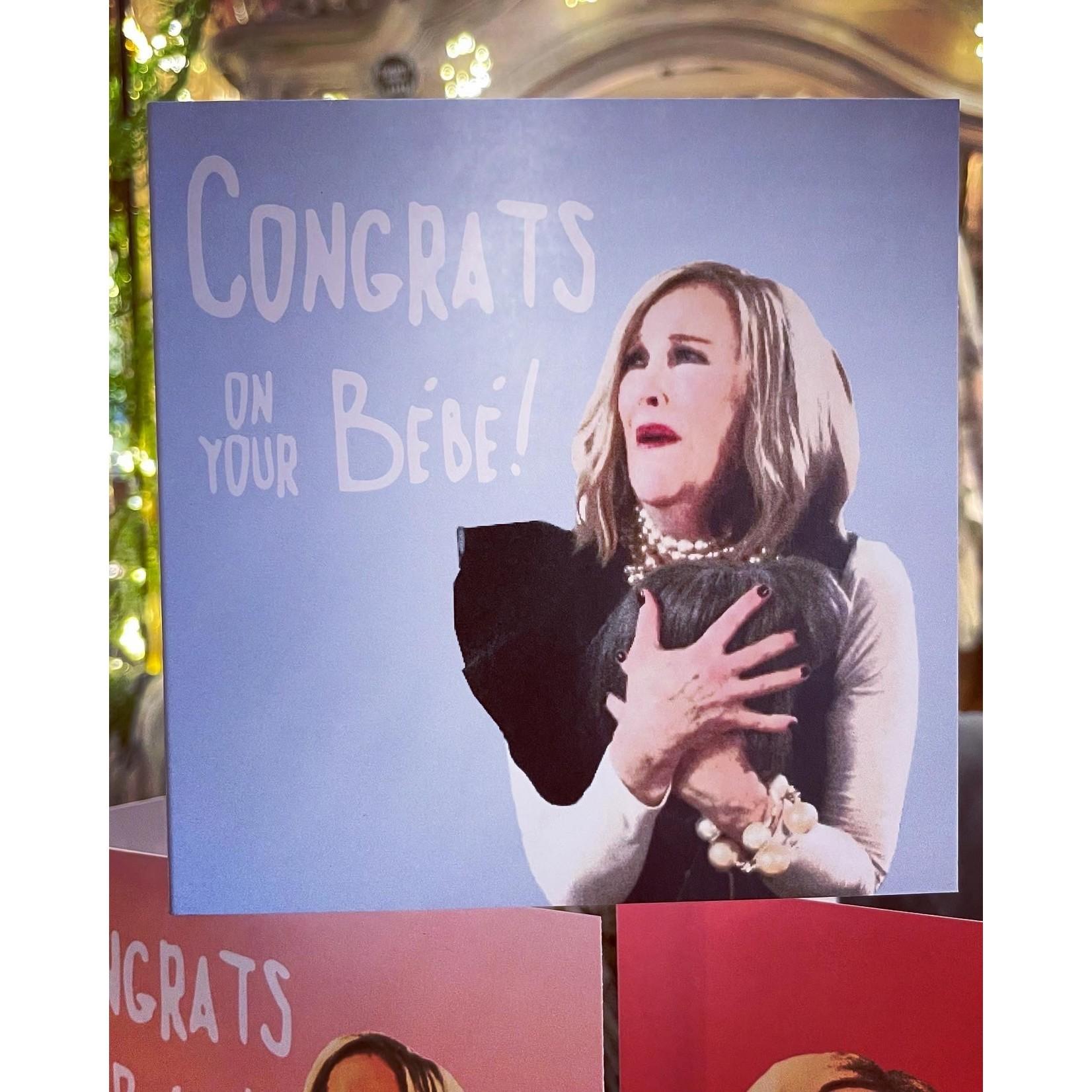 Homebird Congrats on your Bébé Blue Background - Moira Rose from the hit series Schitt's Creek