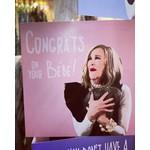 Homebird Congrats on your Bébé Pink Background - Moira Rose from the hit series Schitt's Creek