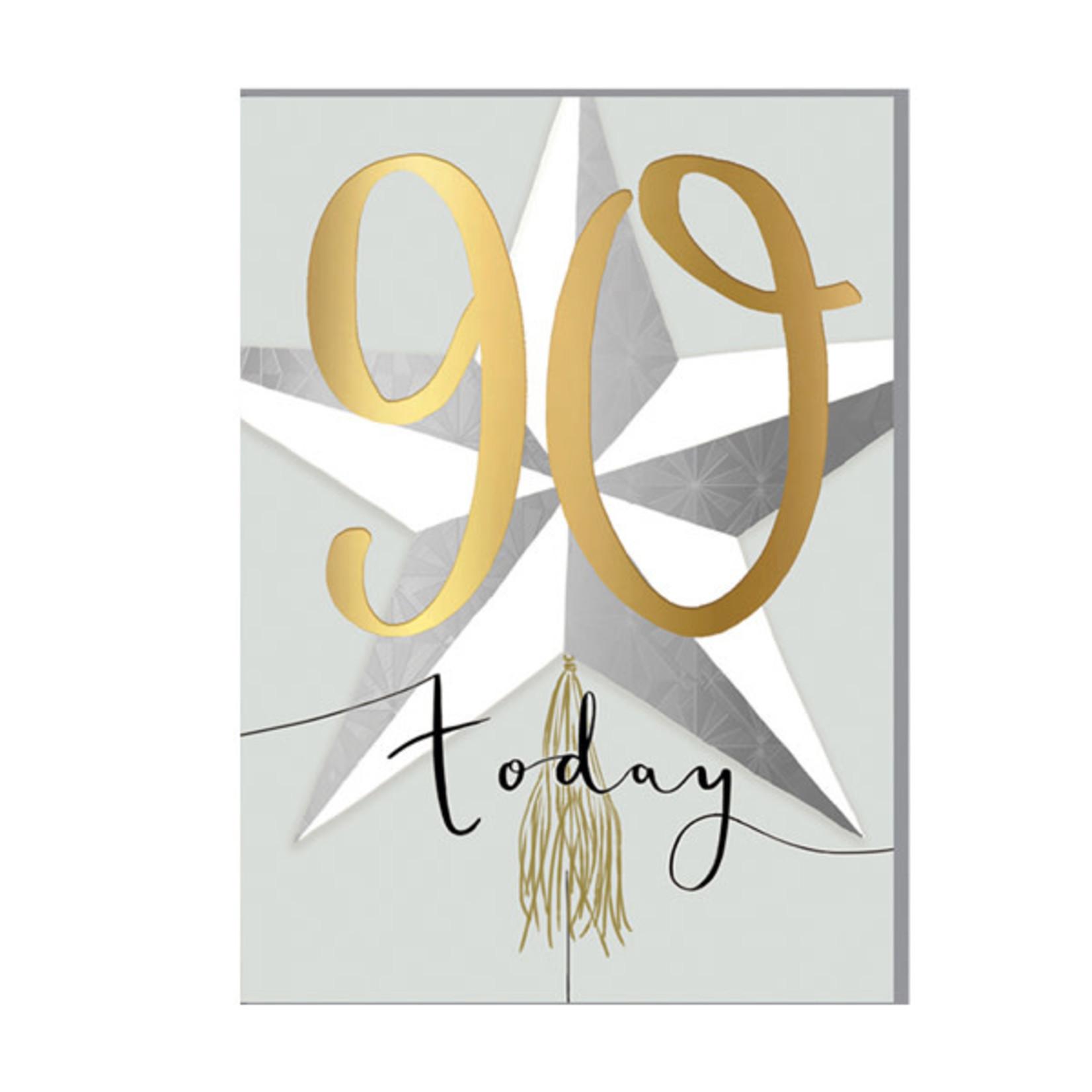 Louise Tiler 90th Birthday Card
