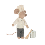 Maileg PRE ORDER Maileg Chef mouse w. soup pot and spoon - Estimated Arrival end November