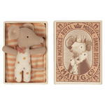 Maileg PRE ORDER Maileg Baby mouse, Sleepy/wakey in matchbox - Girl - Estimated Arrival mid October