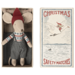 Maileg Maileg Christmas mouse in matchbox, Big brother