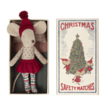 Maileg PRE ORDER Maileg Christmas mouse in matchbox, Big sister - Estimated arrival end October