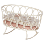 Maileg PRE ORDER Maileg Cradle with sleeping bag, MY - Rose - Estimated arrival end October