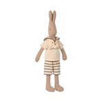 Maileg Maileg Rabbit size 2, Sailor - Off- white/petrol
