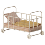 Maileg PRE ORDER Maileg Cot bed, Micro - Rose - Estimated arrival end October