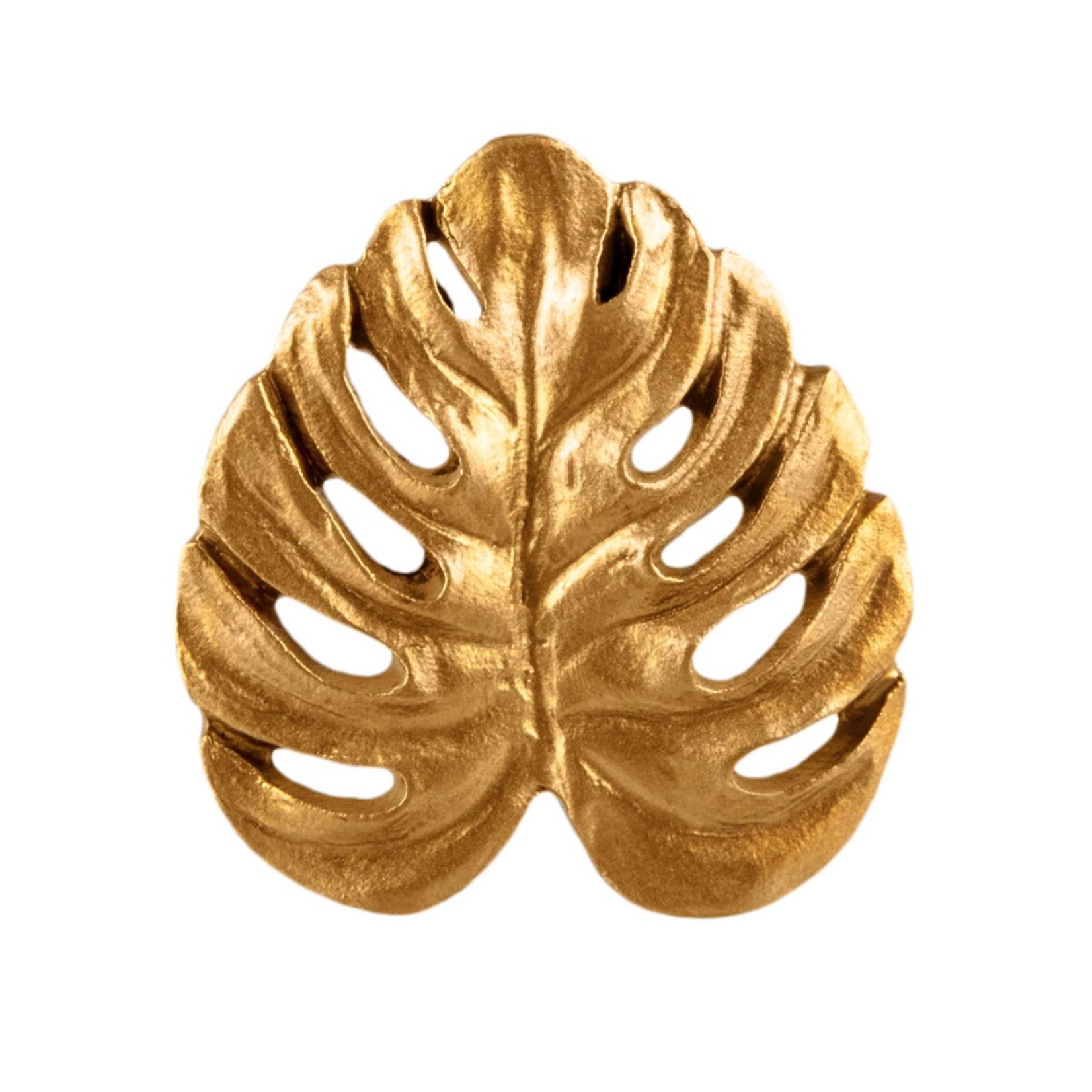 Sass and Belle Gold Monstera Leaf Drawer Knob
