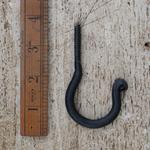 IRON RANGE Ceiling Hook Screw In Black Wax 40mm screw
