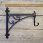 """IRON RANGE Bracket Swivel Plant Hanger with Hook Epoxy Black 12"""" /300mm"""