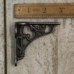 "IRON RANGE Mini Spice rack Shelf Bracket HERITAGE Cast Antique Iron 3"" x 2.75"""