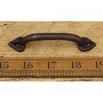 "IRON RANGE Pull Handle Spearhead Shape Antique Copper 4"" / 100mm"