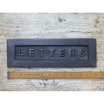 IRON RANGE Letterbox Plate Plain LETTERS Antique Iron 310x100mm