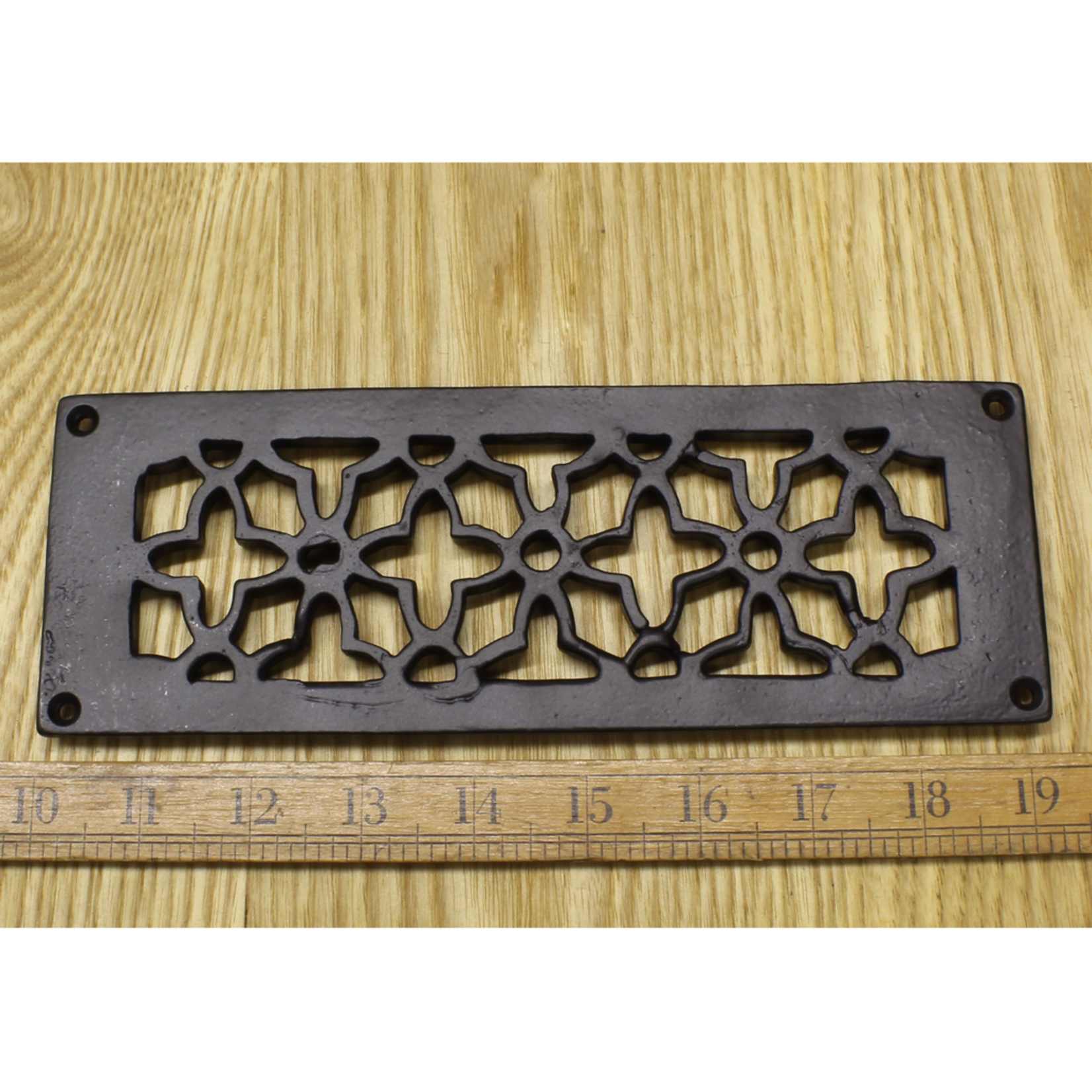 "IRON RANGE Air Vent (Air Brick) Rebated Satin Epoxy Black 3.25"" x 9"""