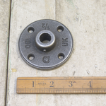 IRON RANGE 15mm pipe Flange Industrial Grub Screw Antique Iron