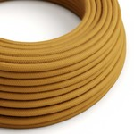 CCIT Per Metre - Round Electric Cable/Flex covered by Cotton solid color fabric Golden Honey