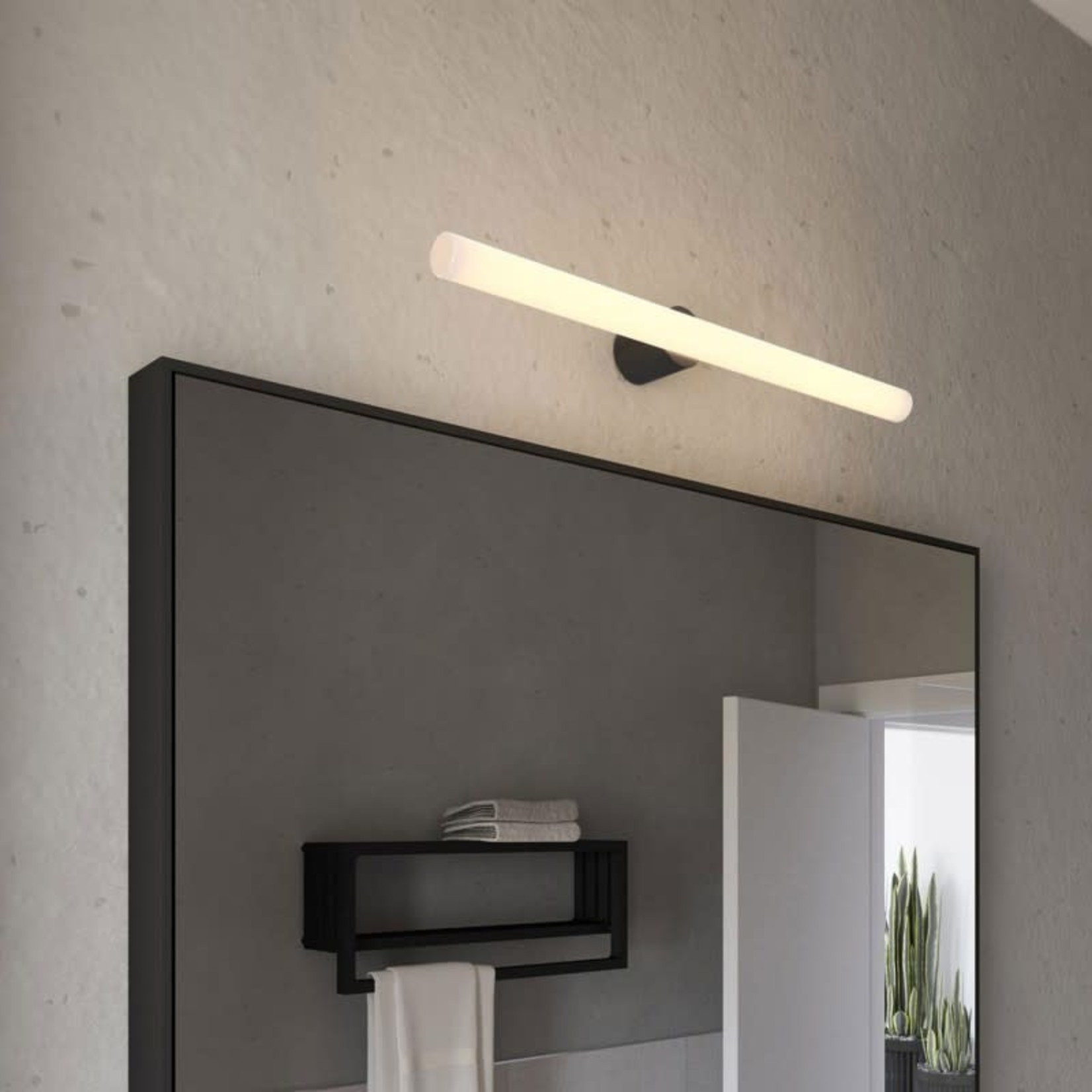 CCIT Esse14 wall or ceiling lamp holder with S14d fitting - Waterproof IP44 - Finish Black