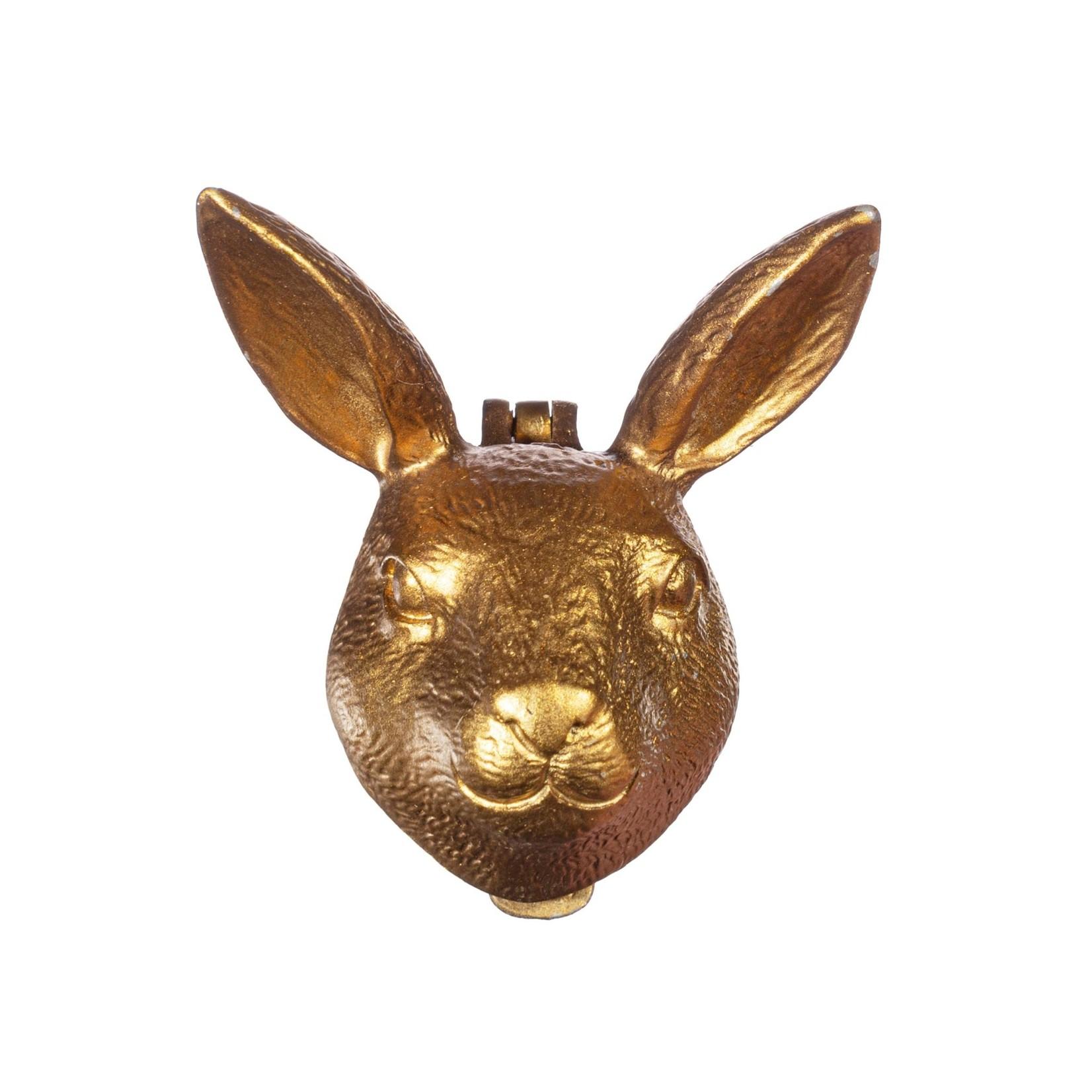 Sass and Belle Gold Rabbit Door Knocker