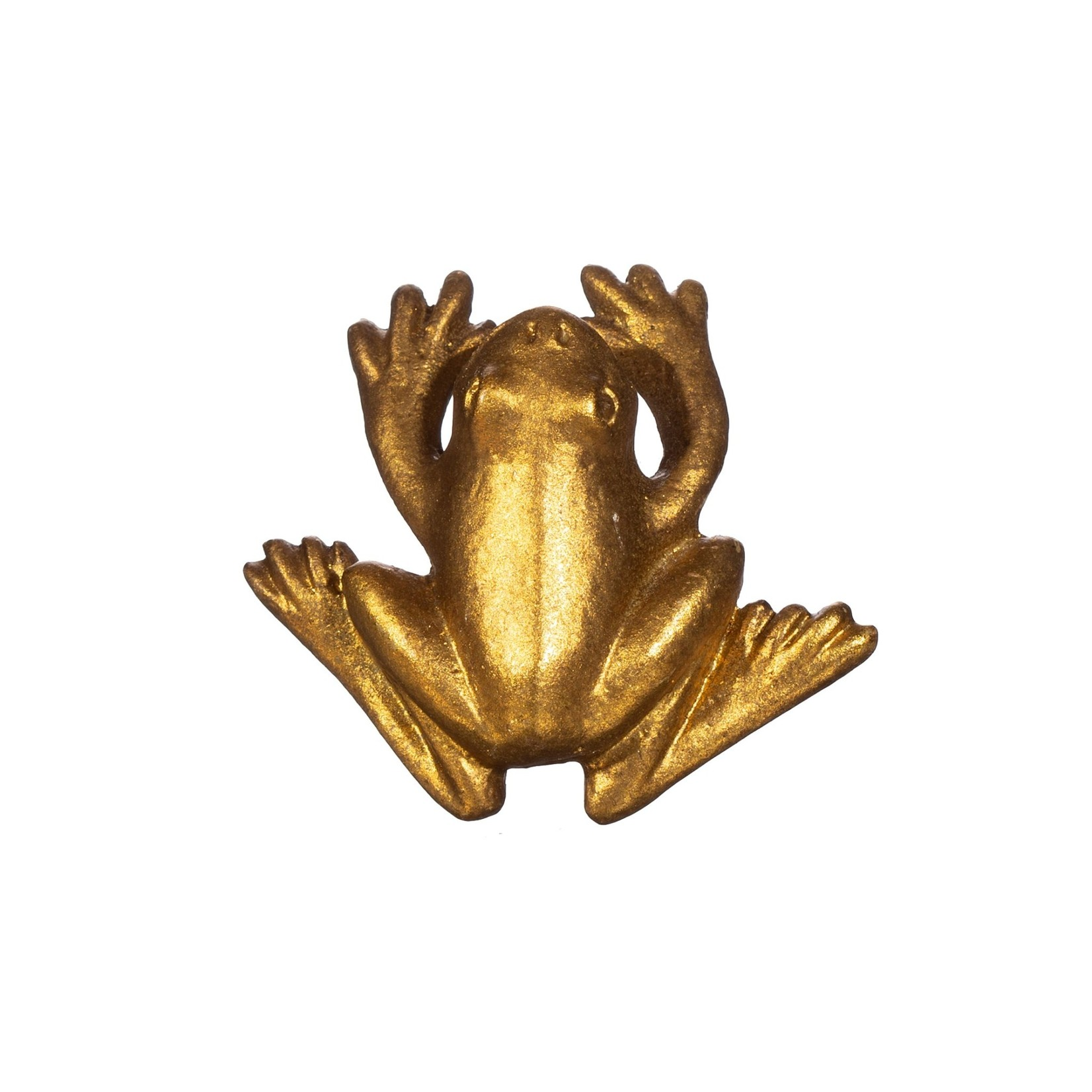 Sass and Belle Gold Frog Drawer Knob
