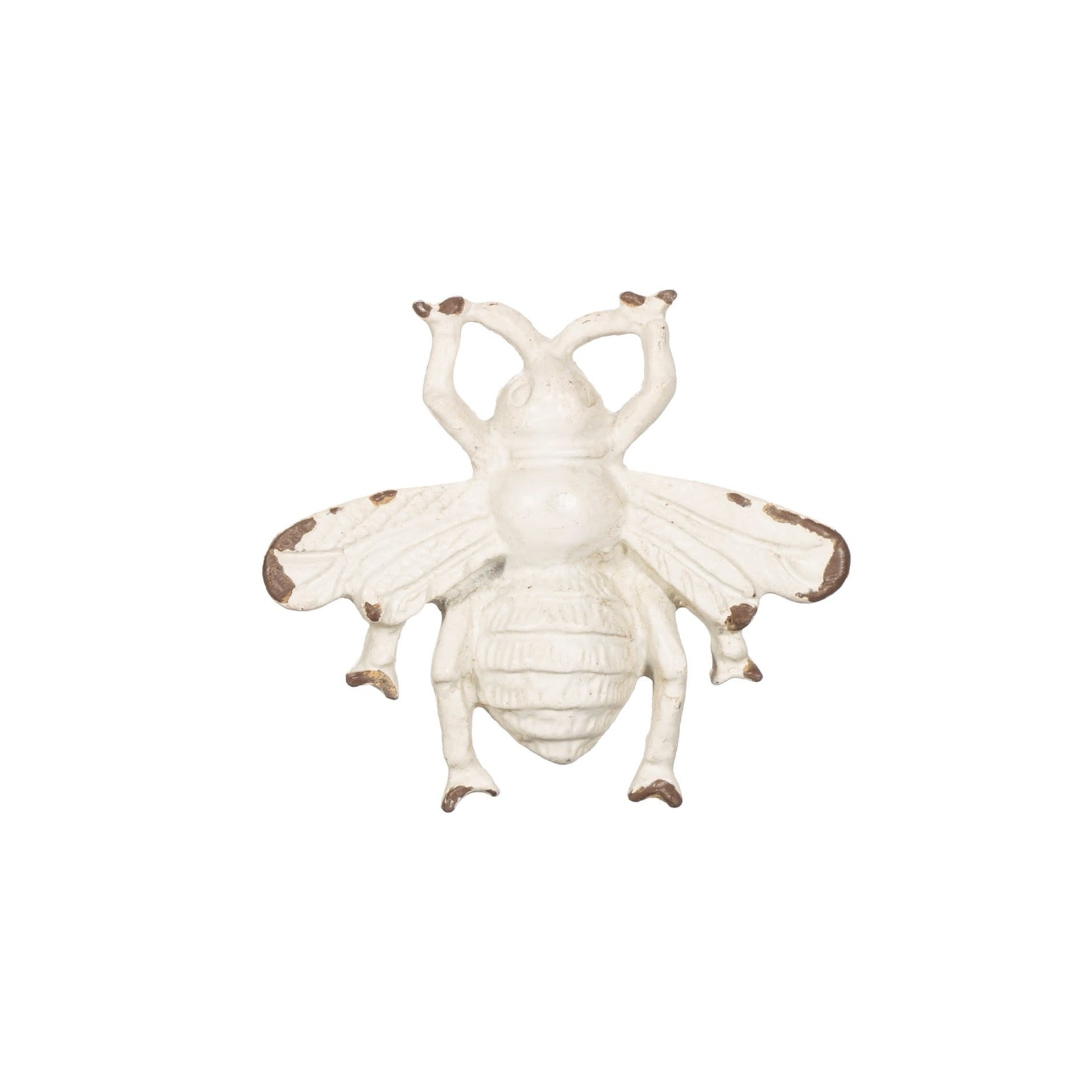 Sass and Belle Antique White Bee Drawer Knob