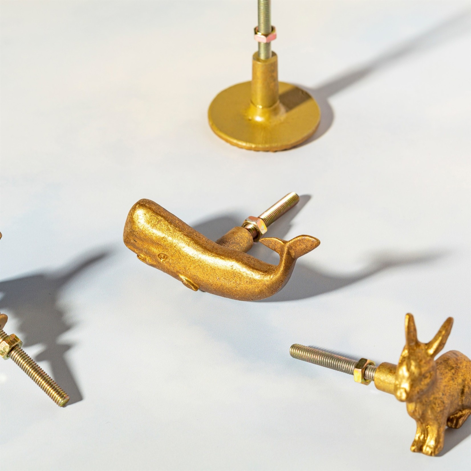 Sass and Belle Gold Whale Drawer Knob
