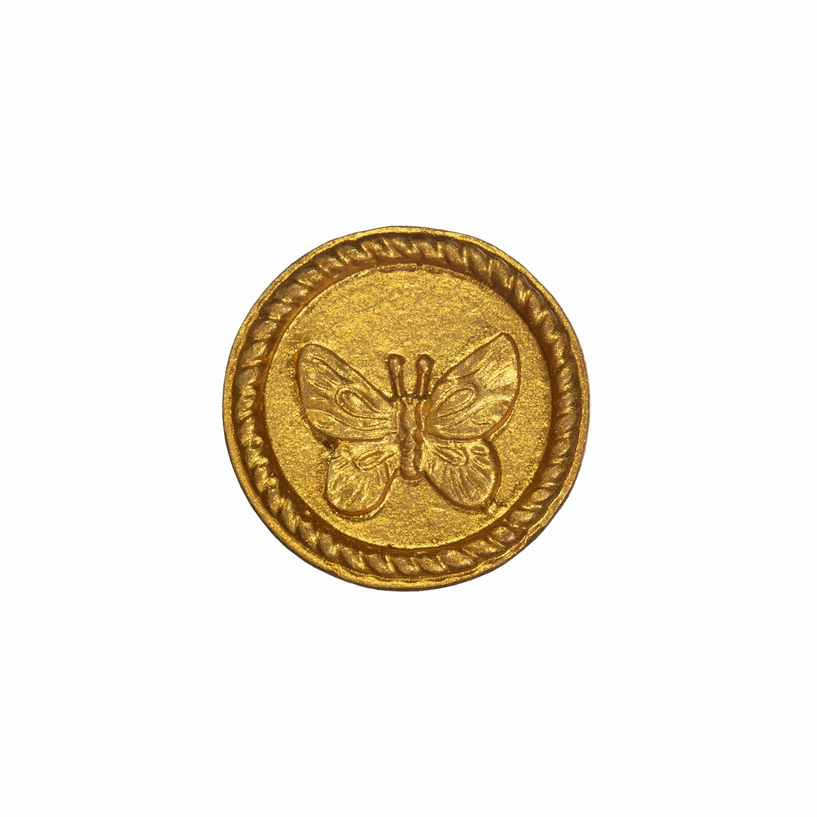 Sass and Belle Gold Butterfly Round Drawer Knob